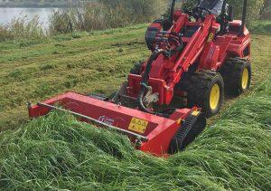 Der Gianni Ferrari Turboloader von Radlmaier bei der Landschaftspflege
