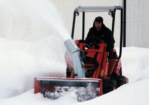 Der Turboloader von Radlmaier mit Schneefräse