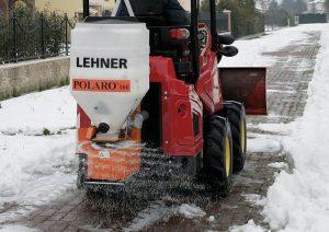 Der Turboloader beim Streuen von Salz.